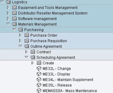 scheduling-agreement