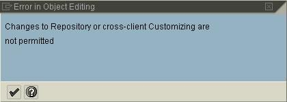 Error in editing object